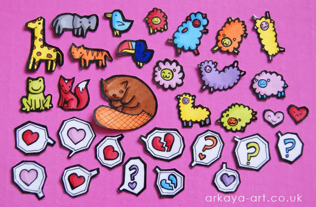 handmade stickers - animals + speech | some hand made sticke… | Flickr