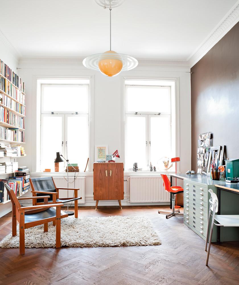 home office living room | via allt i hemmet | Ashley | Flickr