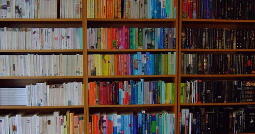 Colour-coordinated bookcase | by CamillaLindskoug