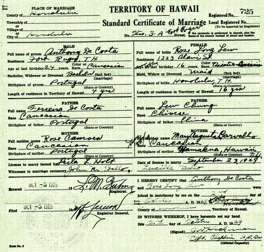 Chong Decosta Marriage Certificate Standard Certificate Flickr