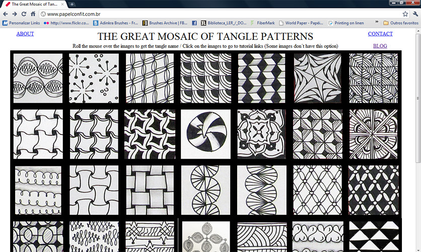 The Great Mosaic Of Tangle Patterns My New Personal Projec Flickr New Tangle Patterns