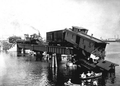 Train wreck on a bridge in Tampa | by State Library and Archives of Florida