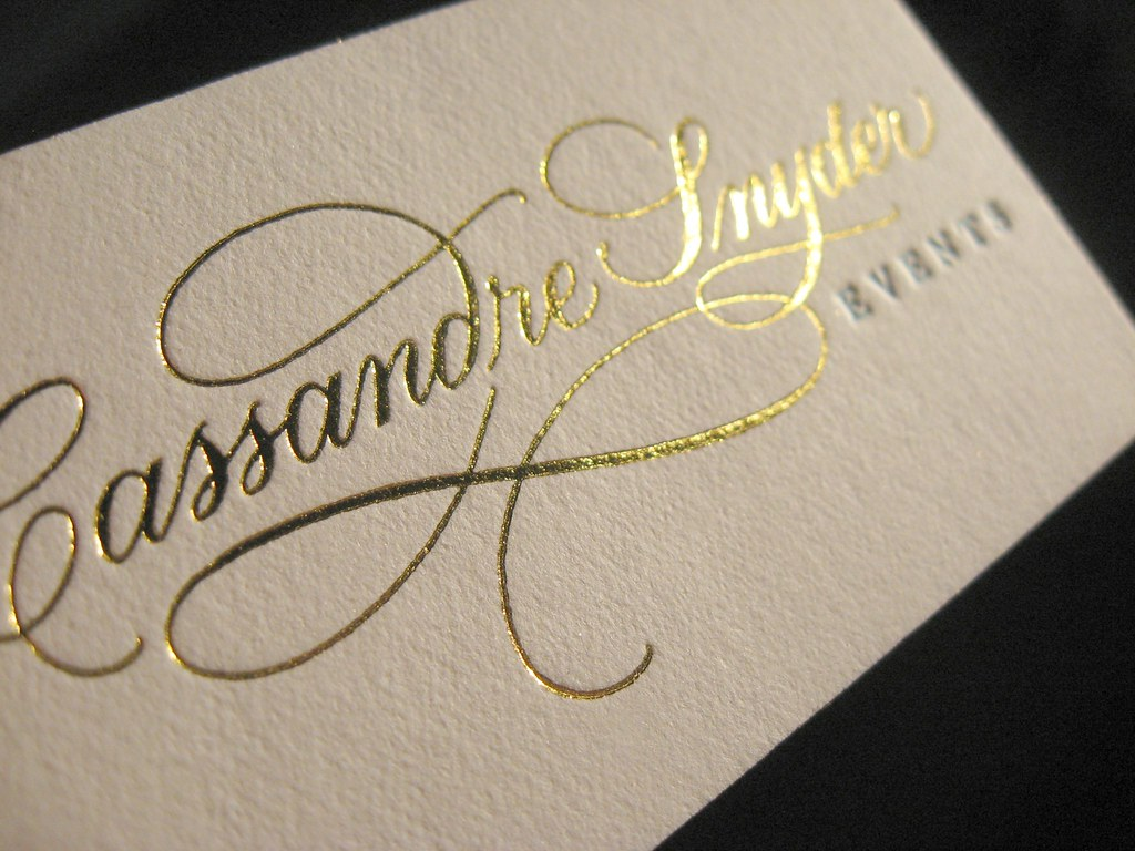 Cassandre Snyder Metallic Foil Closeup | Custom business car… | Flickr