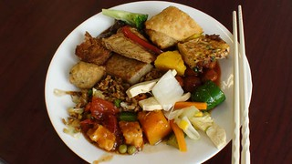 Lunch At Vegan Buffet | by thedailyenglishshow