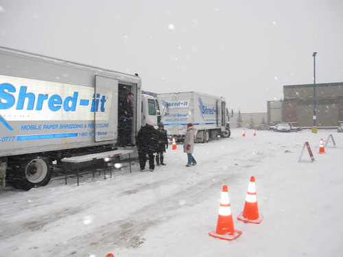 Shredding In The Snow Crowfoot Crossing Shopping Centre