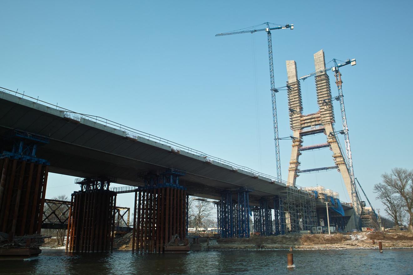 budowa mostu Rędzińskiego, Wrocław