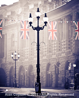 London. Regent Street. Royal Wedding Flags.UK. London. Regent Street. Union Jack Flags to celebrate the wedding of Prince William and Kate Middleton. | by Alan Copson
