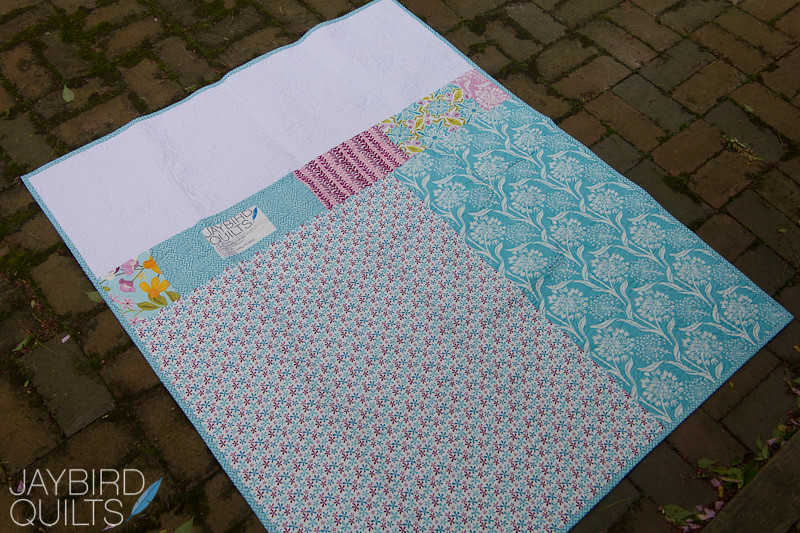 Back Of Blue Carnival All About Quilt Backs Tutorial How Flickr