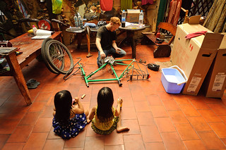 Tyler Disassembling Bikes (With an Audience) | by goingslowly