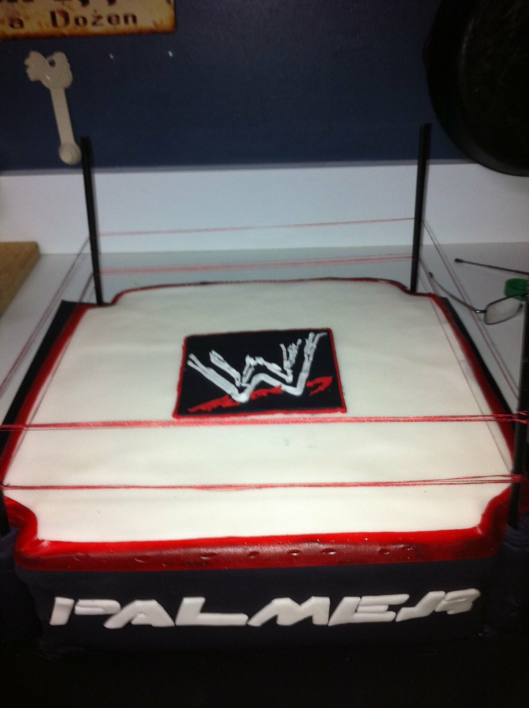 Wwf Wrestling Birthday Cake A Friend Of My Daughters Order Flickr