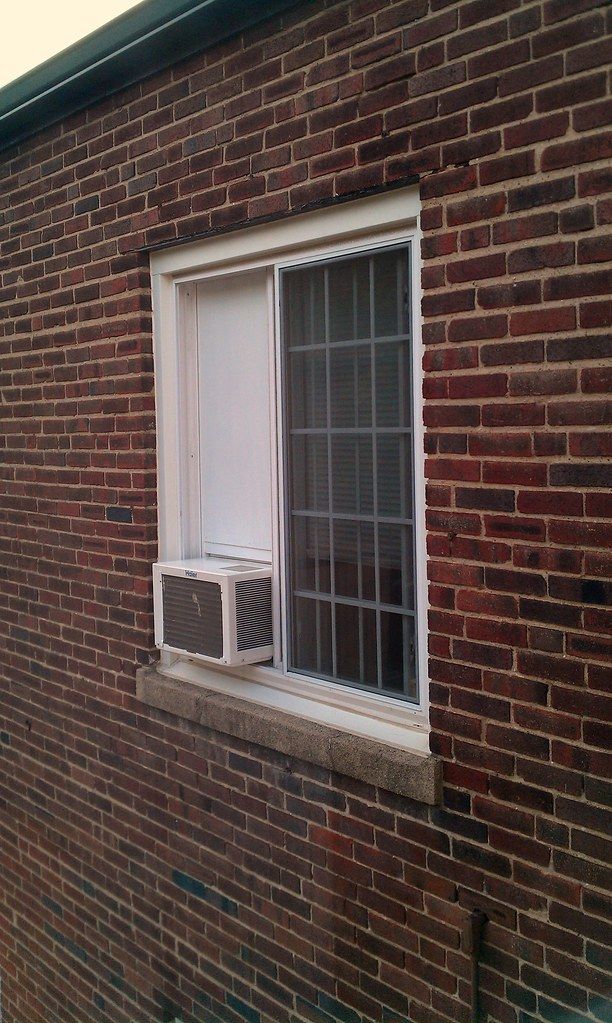 Sliding Window Air Conditioner Frame - Installed from Outs… | Flickr