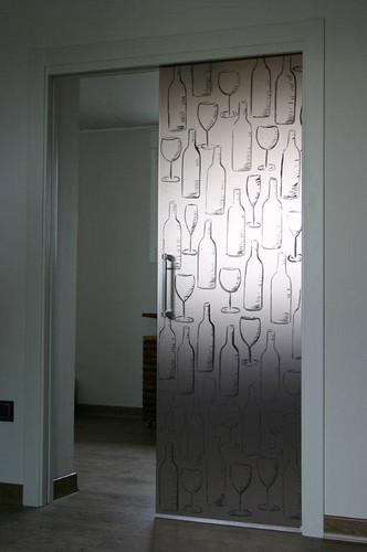Puerta corredera en vidrio pintado las puertas correderas flickr - Puertas correderas vidrio ...