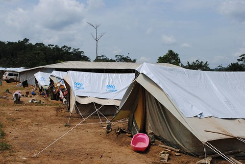 Refugee camp in Liberia, along the Ivory Coast border | by Oxfam International