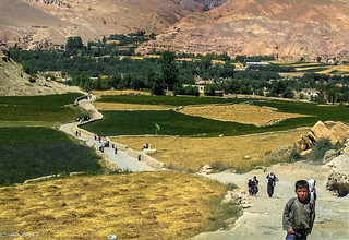 The Long Walk from School | Bamiyan | Afghanistan | by Hadi Zaher