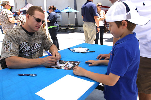 San Diego Padres Catcher Signs Autographs for Military Kids | by MC&FP