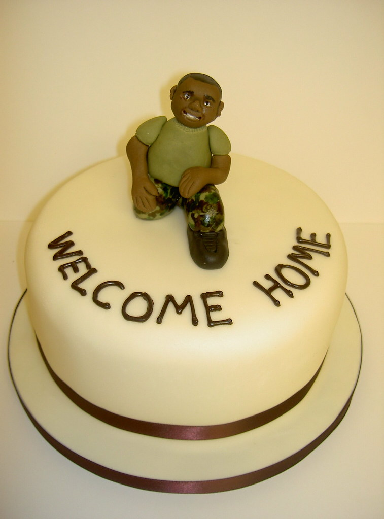 welcome home soldier cake www tattoo cakes co uk scu flickr