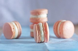 orange macarons | by Madison Bistro