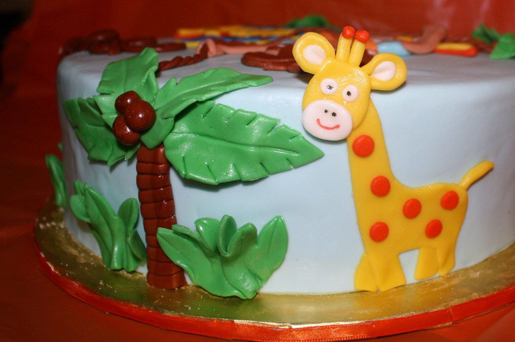 Go Diego Go Cake  I Made This Jungle Themed Diego Cake Fo Flickr - Go diego go birthday cake