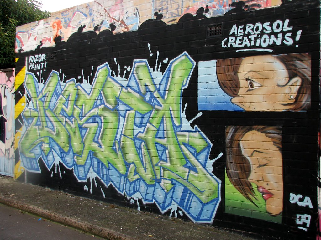 Aerosol Creations Graffiti In Newtown By Queen Babs Sydney