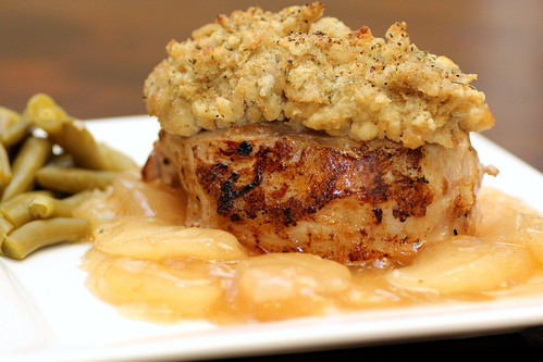 Pork Chops with Apples and Stuffing | by Recipe Snob