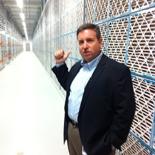 Thomas Furlong, director of site operations at Facebook, shows us a huge wall of filters at its datacenter | by Robert Scoble