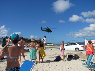 Helicopter landing at Juliana Airport , St. Maarten | by supe2009