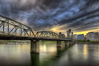 Sunset Over Portland Skyline and Hawthorne Bridge - HDR | by David Gn Photography