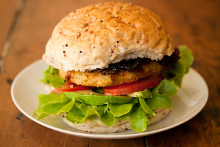 Sweet Potato and Chickpea Burgers | by vegan4everyone