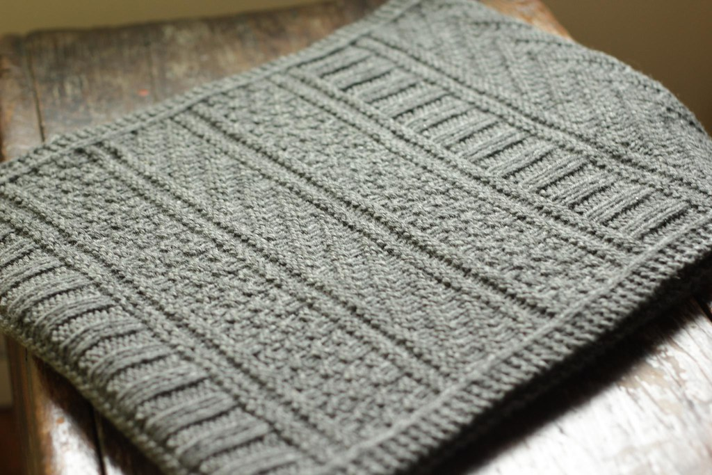 Knit Guernsey Wrap Scarf In Charcoal Gray Wool The Guernse Flickr