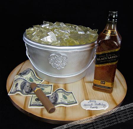 Johnnie Walker Birthday Cake