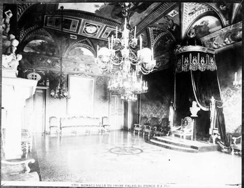 salle du tr ne palais princier monaco carte postale. Black Bedroom Furniture Sets. Home Design Ideas