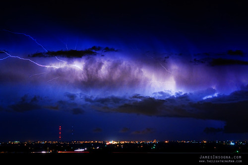 Cloud to Cloud Lightning Bursting Out Boulder County Colorado | by Striking Photography by Bo Insogna