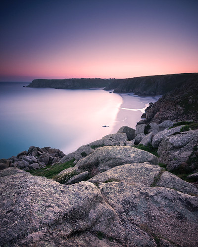 Porthcurno long exposure sunset | by SAR1N