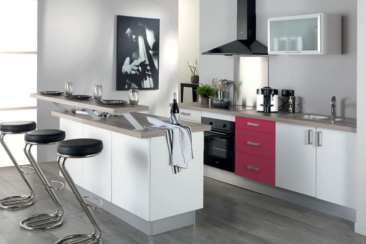 Cuisine équipée rose - Modèle design mat Venise | La cuisine… | Flickr