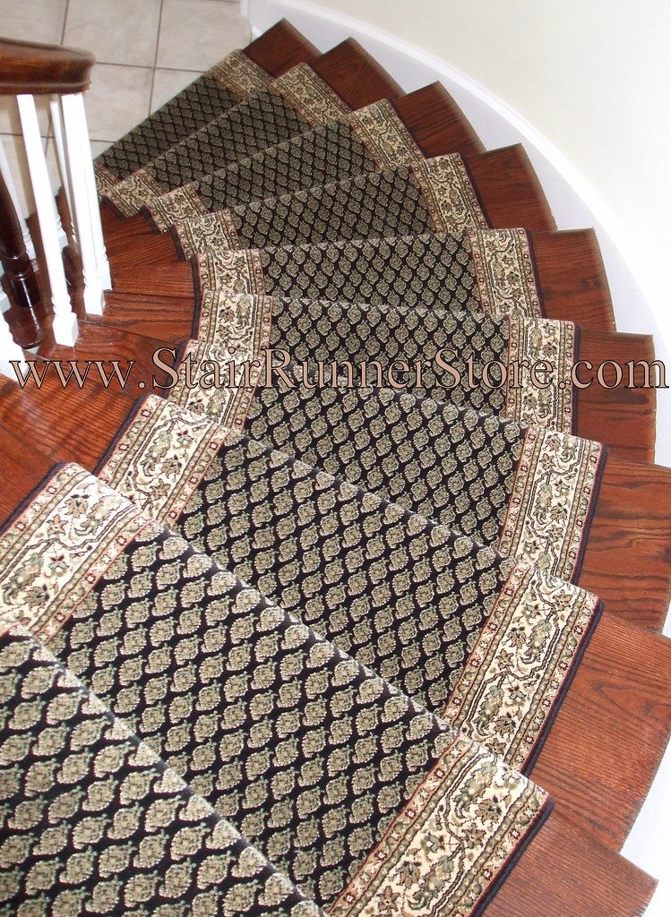 Genial ... Curved Stair Runner Installation Photo | By The Stair Runner Store