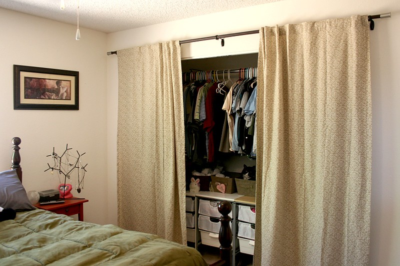 ... New Closet Curtains, Open | By StarsApart