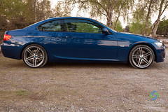2011 BMW 330i M Sport Coupe  In Le Mans Blue paint with 19  Flickr