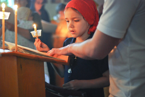 2011-04-22-holy-friday-lamentations-08-child-reading-psalm-118-verse | by Saint Nicholas Orthodox Church