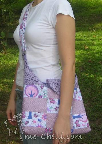 Bolsa De Tecido Quiltada : Bolsa de patchwork quiltada ? m?quina