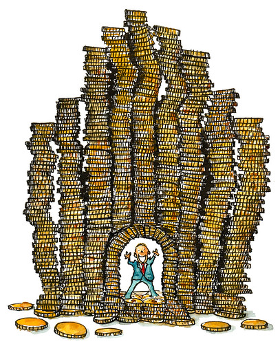 money-castle illustration