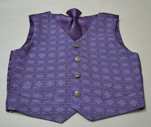 boy s vest and clip tie set satin violet 2011 collectio