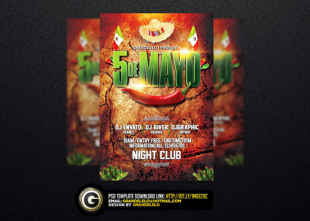 5 de mayo a mexican party flyer template download here gr flickr