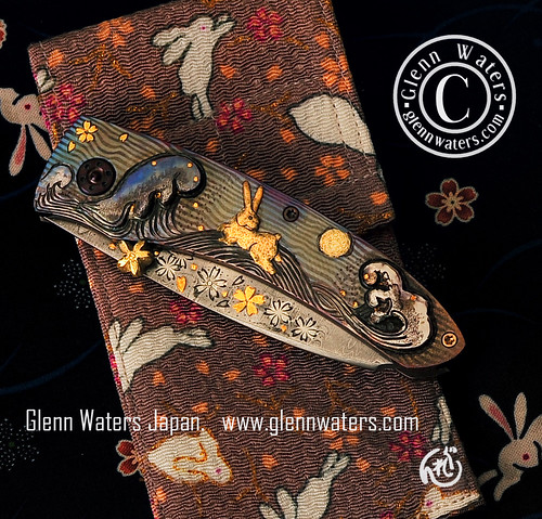 Custom folding knife by Glenn Waters. Shiro Usagi Closed View. Over 17,000 views to this photo. | by Glenn Waters ぐれんin Japan.