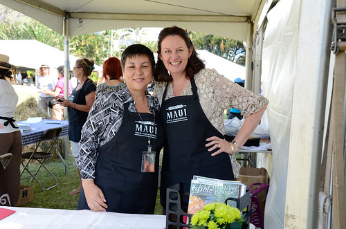 @DaniaEdibleHI and @JudithEdibleHI at #MauiAgFest | by Slow Food Maui