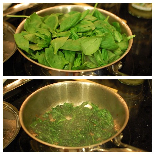 how to cook spinach fast
