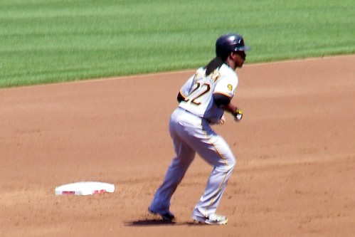 Andrew McCutchen leads off second | by runneralan2004