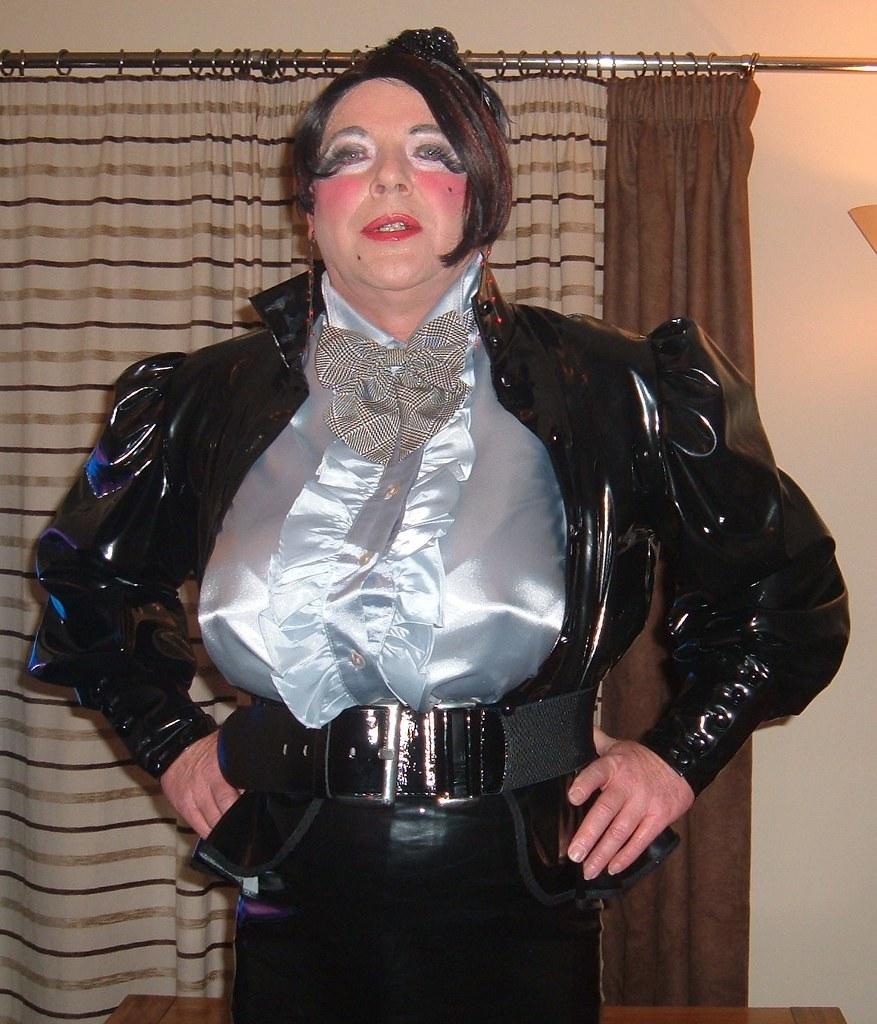 Satin blouse big tits