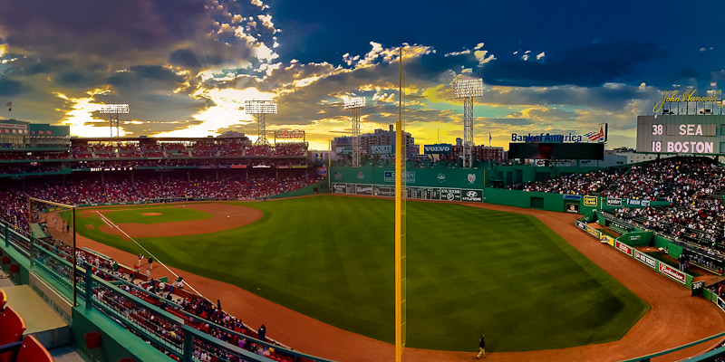 Sunset Over Fenway Park Boston