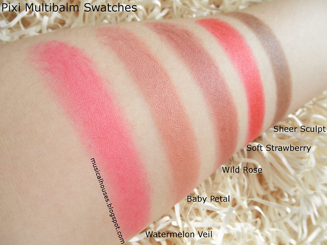 Pixi Multibalms Swatches Review by Petra