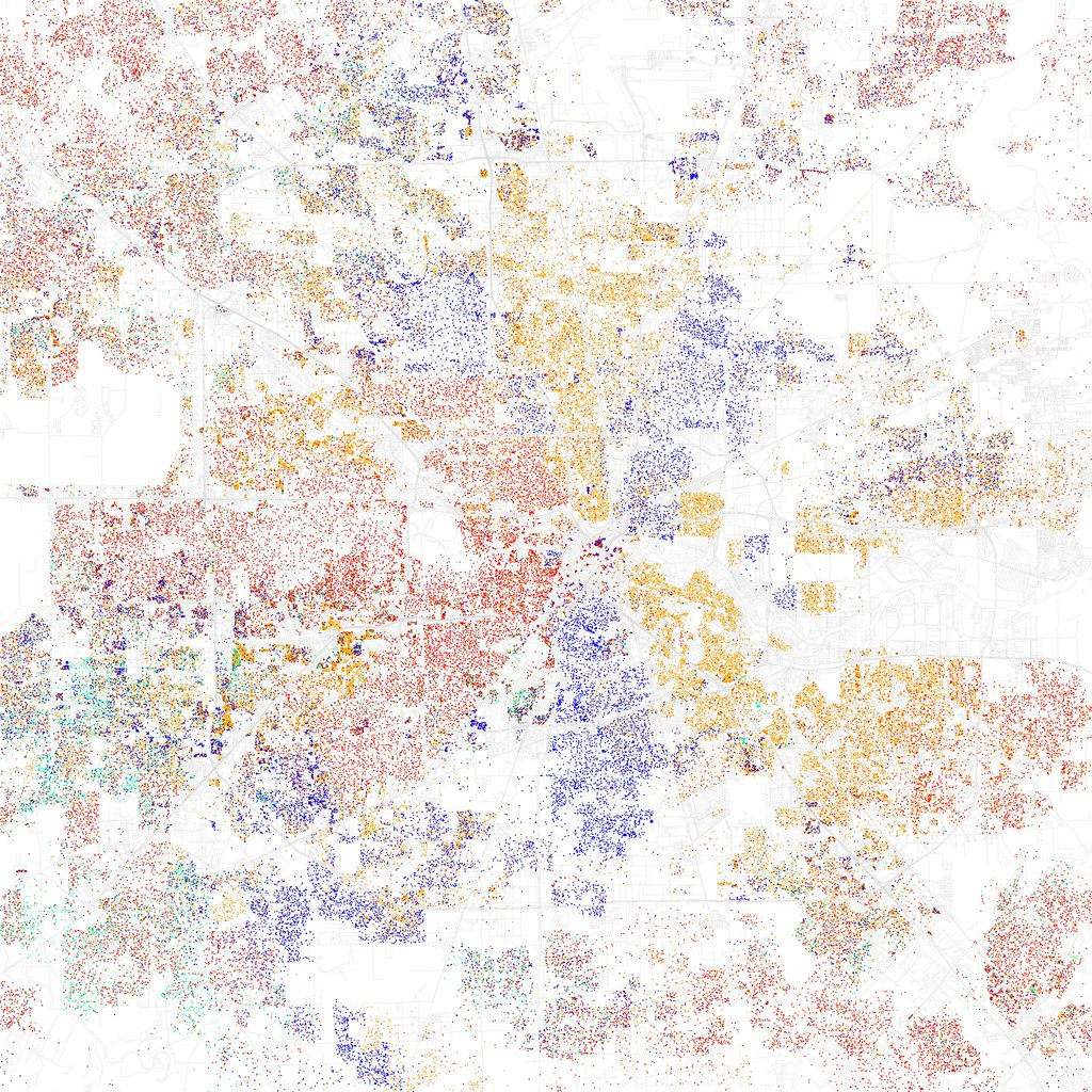 Race And Ethnicity Houston Maps Of Racial And Ethnic Flickr - Us map by ethnicity